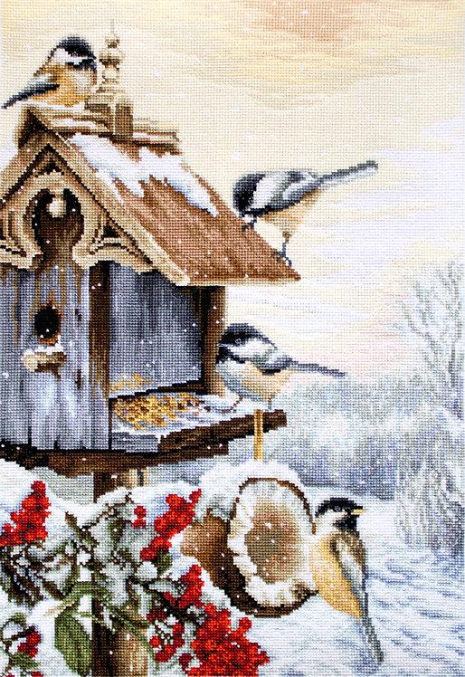 BU4021 Bird House - Luca-S - Kit de Punto de Cruz