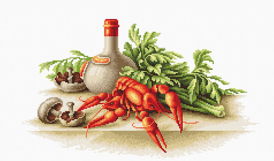 B2258 Still Life with crayfish