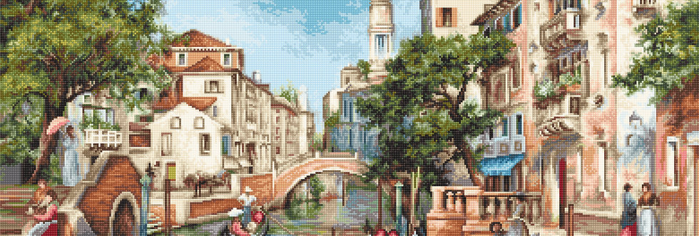 B589 The streets of San Polo - Cross Stitch Kit Luca-S