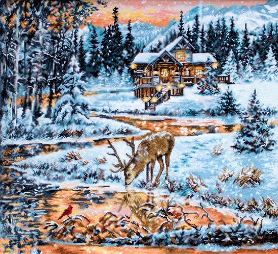BU4022 Snowy Cabin