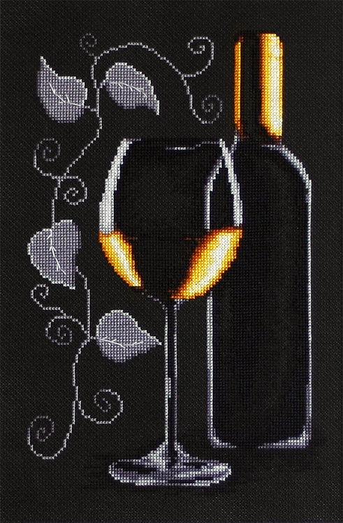 B2221 Botella de vino - Luca-S - Kit de Punto de Cruz