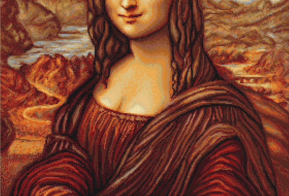 B416 Mona Lisa - Leonardo da Vinci - Cross Stitch Kit Luca-S