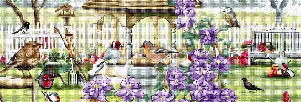 LETI 944 Bird table - LETISTITCH - Cross Stitch Kit