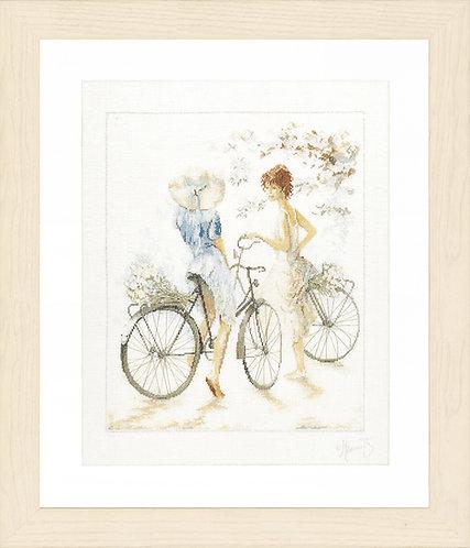 Chicas con bicicletas - Lanarte - Kit de punto de cruz