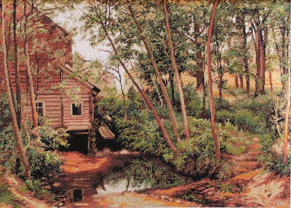 Landscape, reproduction of Shishkin