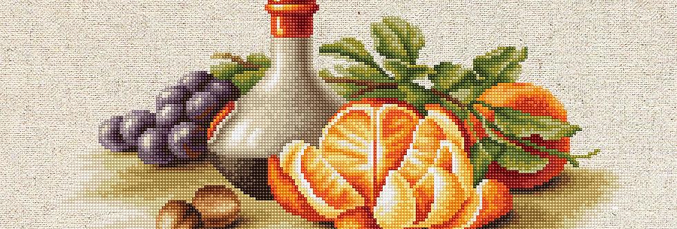 BL2250 Still Life with Oranges - Cross Stitch Kit Luca-S
