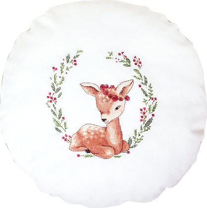 Deer between flowers