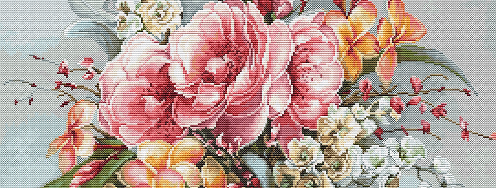 BA2364 Flower bouquet - Cross Stitch Kit Luca-S