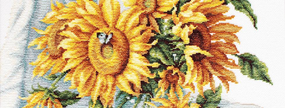 B2264 Sunflowers - Cross Stitch Kit Luca-S