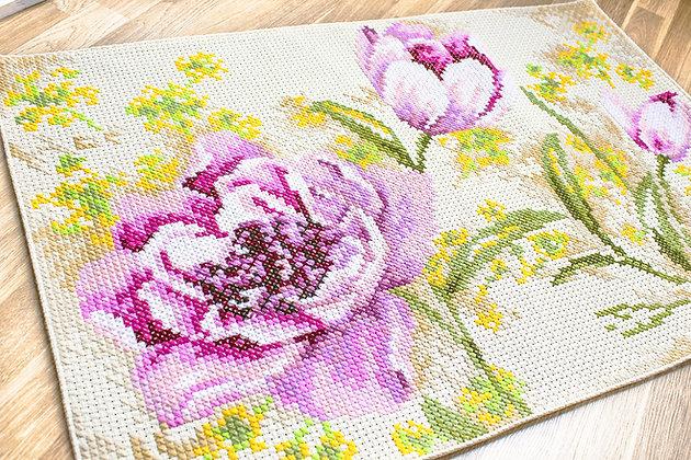 Decorative rug - Tulips