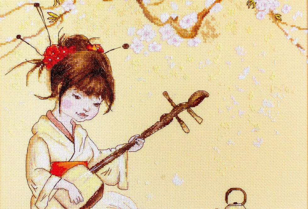 B1144 Japanese tea ceremony - Cross Stitch Kit Luca-S