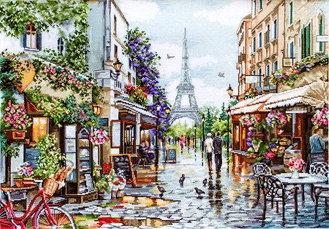 B2365 Paris en flores - Luca-S - Kit de Punto de Cruz