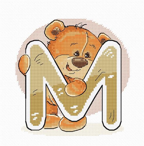 """B1214 Letter """"M"""""""