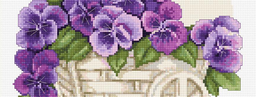 B259 Pansies - Cross Stitch Kit Luca-S