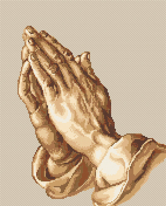 B350 Manos que oran, Kit de punto de cruz Luca-S