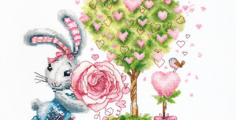 B1125 Valentine's - Little bunny - Cross Stitch Kit Luca-S