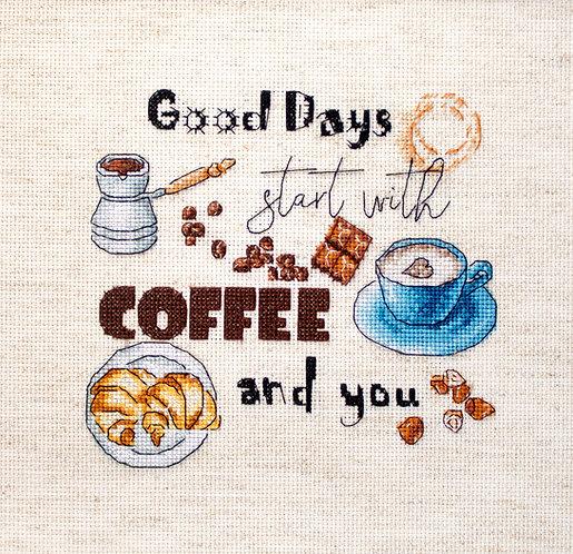 LETI 927 Coffee Time - Kit de Punto de Cruz LETISTITCH