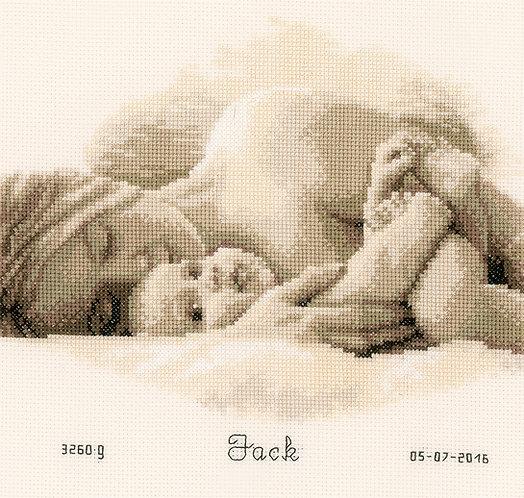 Natalicio - Primer abrazo - Vervaco - Kit de punto de cruz