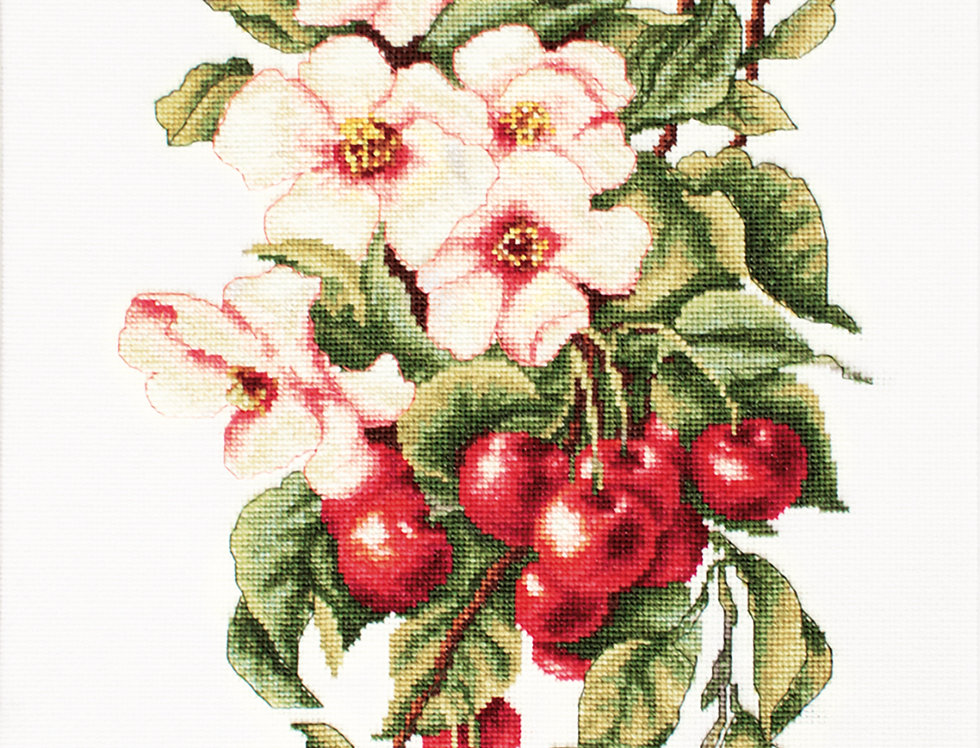 B205 Composition with Cherry - Cross Stitch Kit Luca-S