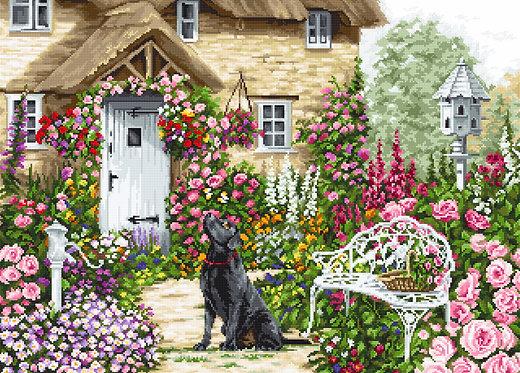 B2377 El jardín de la cabaña - Luca-S - Kit de Punto de Cruz
