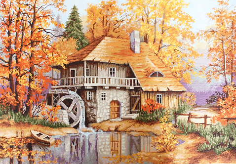 G481 Autumn Landscape - Needlepoint kit Luca-S