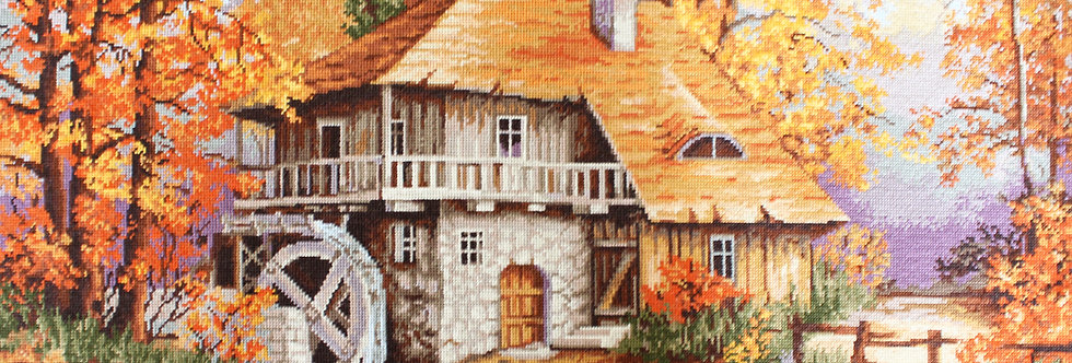 G481 Mill in the woods - Autumn - Petit Point Kit Luca-S