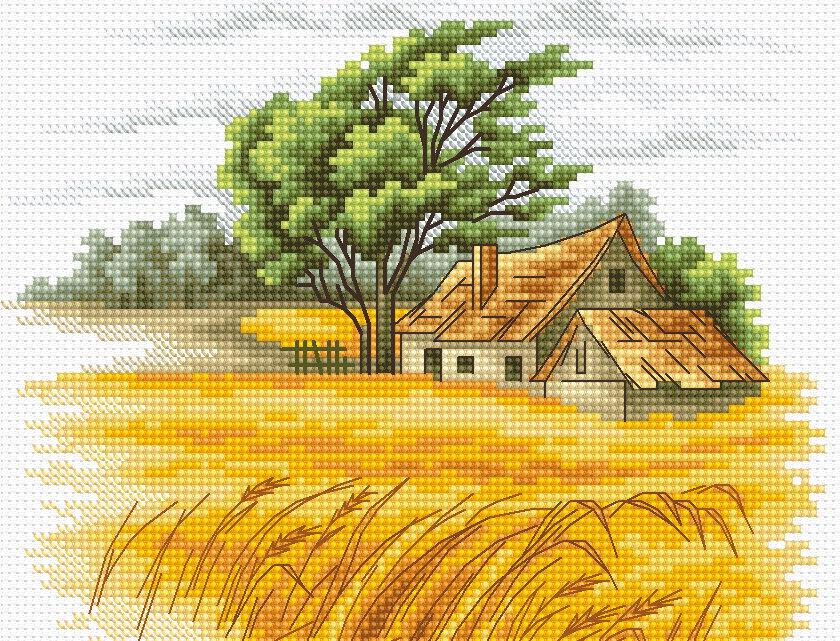B2282 Autumn Landscape - Cross Stitch Kit Luca-S