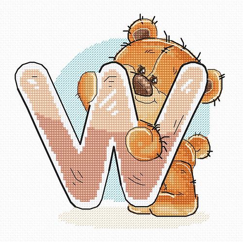 """B1224 Letter """"W"""""""