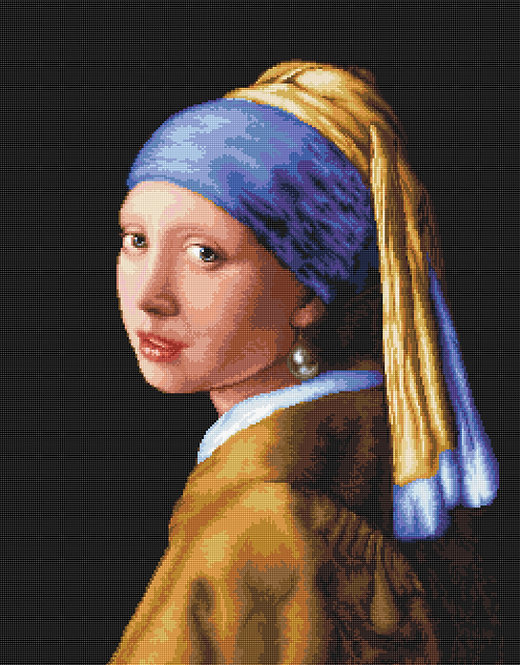G467 La joven de la perla - Luca-S - Kit de Petit Point