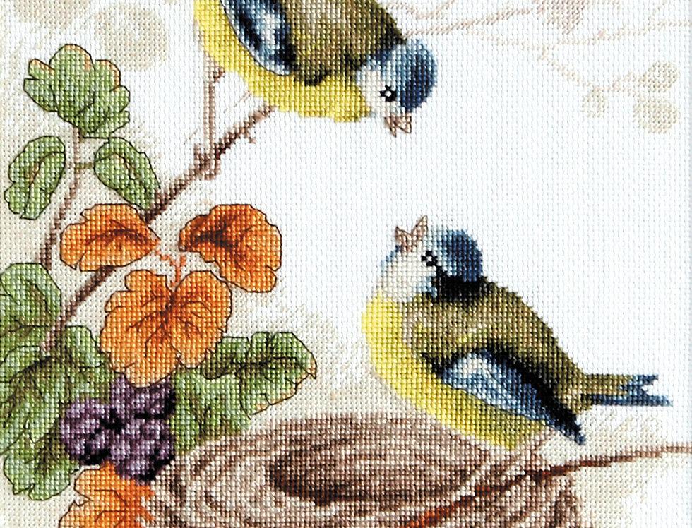 B215 Birds in the nest - Luca-S Cross Stitch Kit