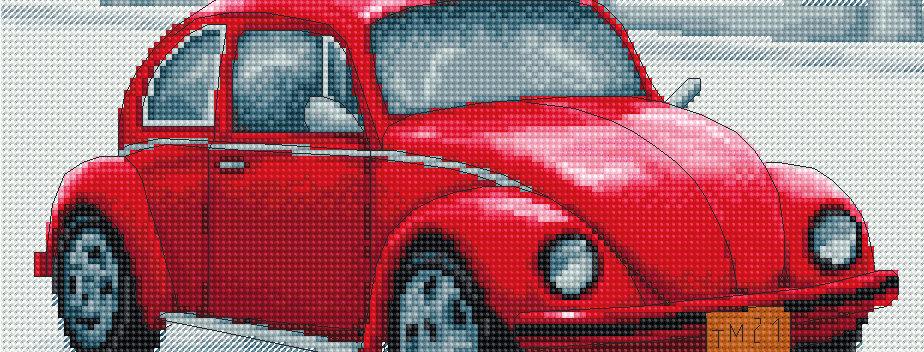 B2235 Retro Car - Cross Stitch Kit Luca-S