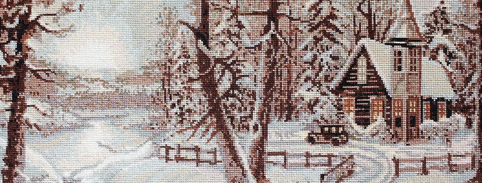 B321 Winter Landscape - Cross Stitch Kit Luca-S