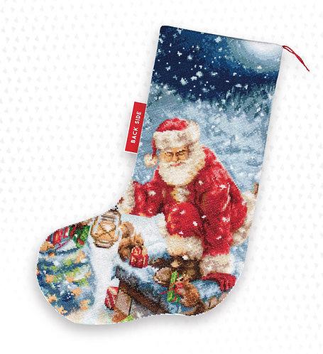 PM1231 Regalos de Papa Noel - Luca-S - Calcetín de Navidad