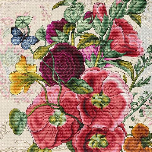 B2366 Flores de verano - Luca-S - Kit de Punto de Cruz