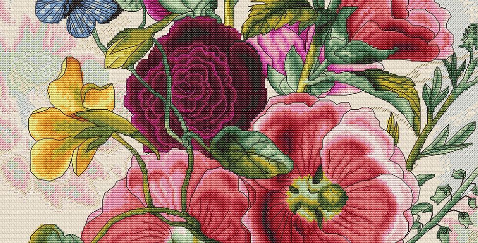 B2366 Summer Flowers - Cross Stitch Kit Luca-S