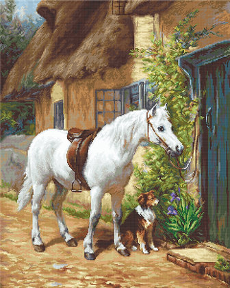 Horse - petit point