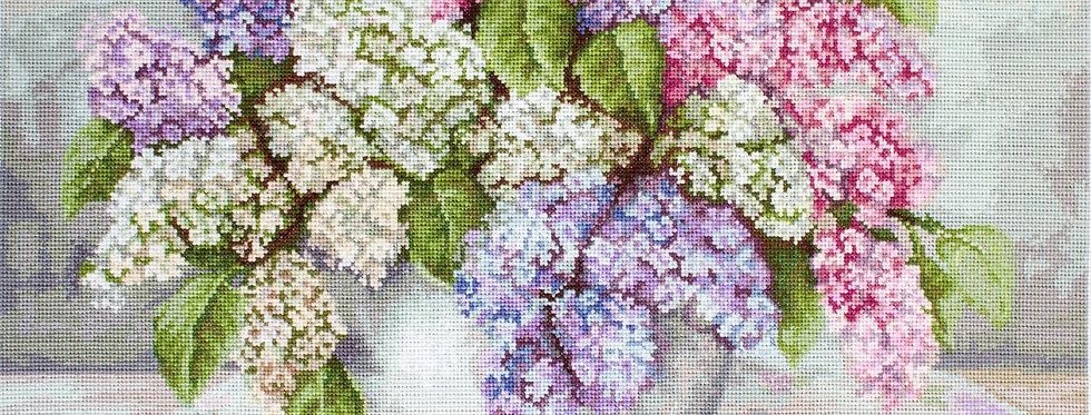 BA2326 Lilacs - Cross Stitch Kit Luca-S