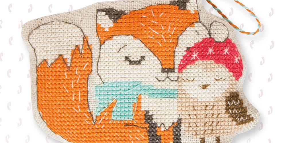 JK009 Fox & Owl - Cross Stitch Kit Luca-S