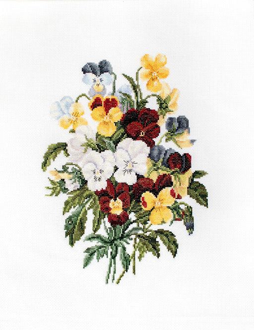 BU4002 Bouquet of Pansies
