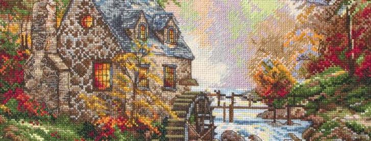 Maia Cross Stitch Kit - Cobblestone Mill