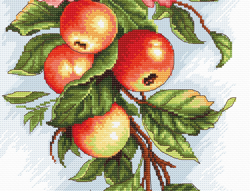 B211 Composition with Apples - Cross Stitch Kit Luca-S