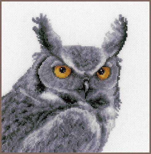 Búho gris - Vervaco - Kit de punto de cruz