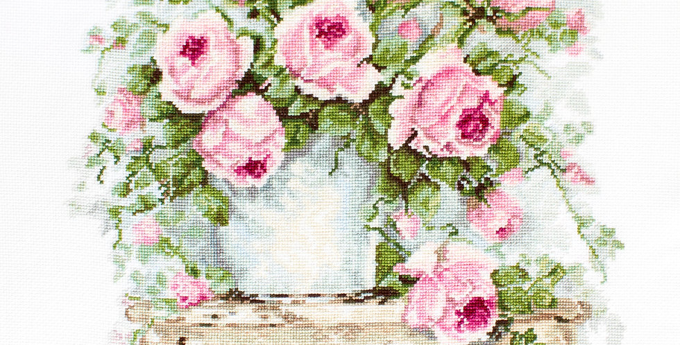 B2332 Flowers on a Stool - Cross Stitch Kit