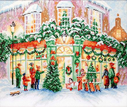 LETI 914 Tienda de Navidad - LETISTITCH - Kit de Punto de Cruz