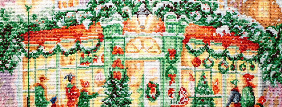 LETI914 Christmas shop - Cross Stitch Kit LETISTITCH