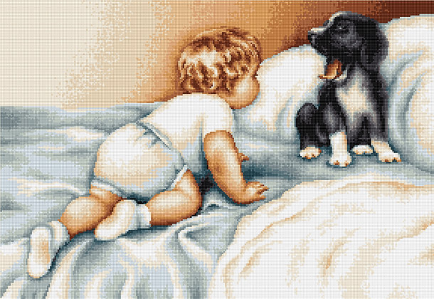 Child and the dog