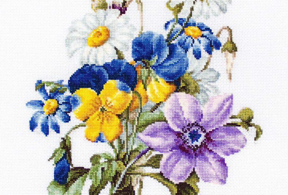 B2348 Flower Bouquet - Cross Stitch Kit Luca-S
