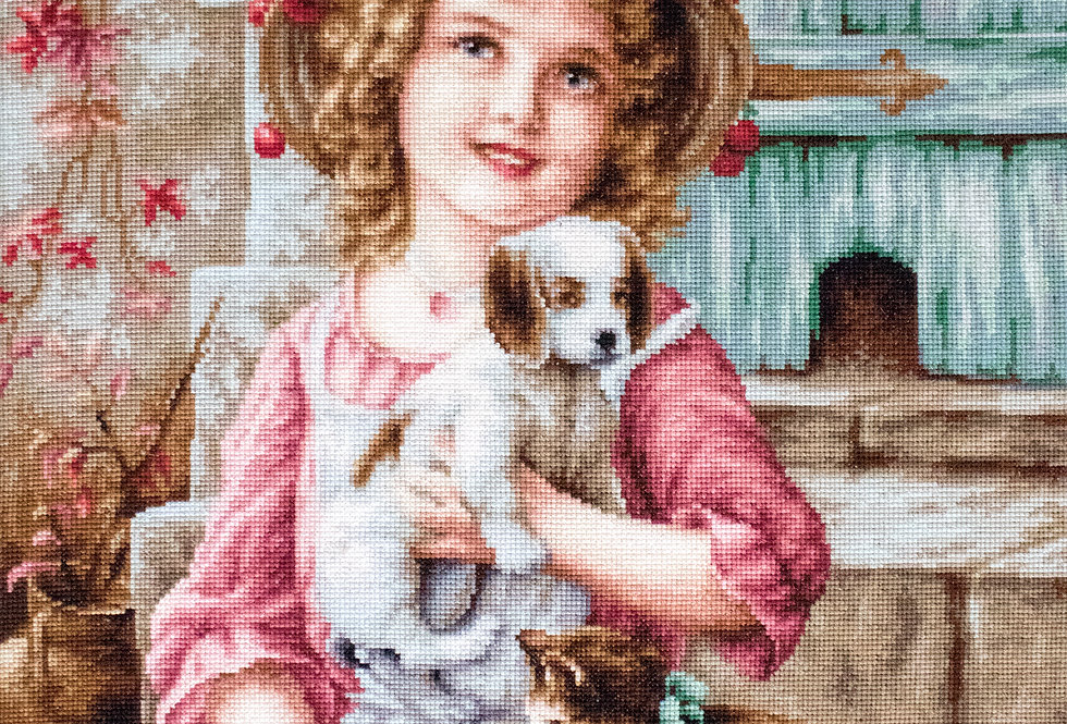 G518 Best Friends - Petit Point Kit Luca-S