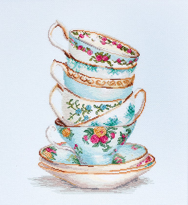 Turquoise themed tea cups