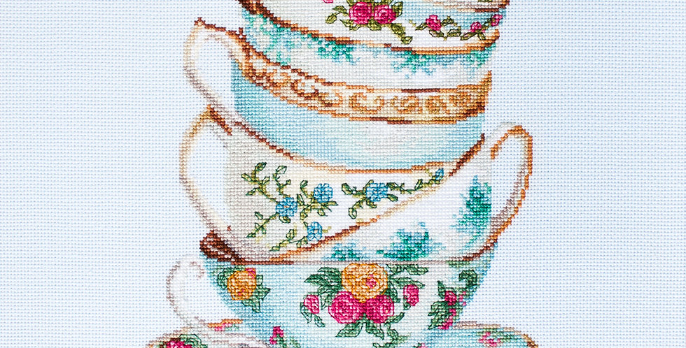 B2325 Turquoise Themed Tea Cups